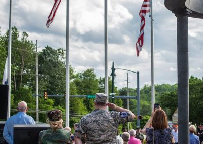 squadron 1007 participates in Delaware County flag raising ceremony May 20 2