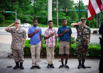squadron 1007 participates in Delaware County flag raising ceremony May 20 7