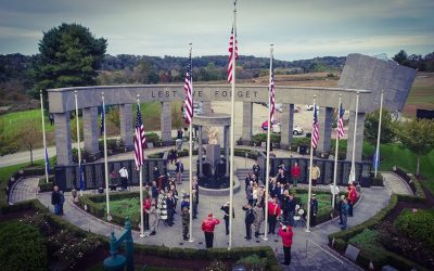 Squadron 1007 Participates in Casket Flag Raising Ceremony at DCVM
