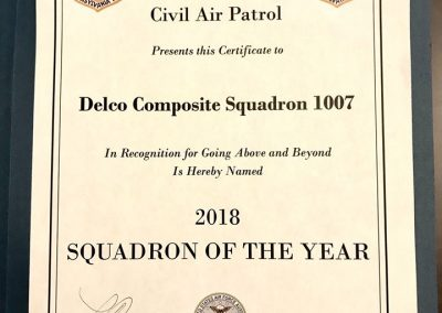 CAP Squadron 1007 Wins Group 3 Squadron of the Year 2
