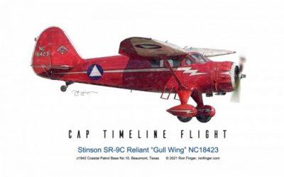 "Timeline Flight 7 — Stinson-SR-9C-Reliant ""Gull Wing"""