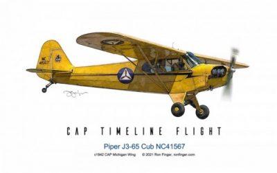 Timeline Flight 8 — Piper J3-65 Cub